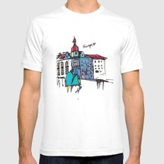 europe SMALL Mens Fitted Tee White