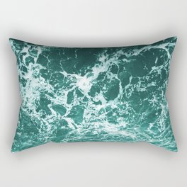 Upside Down Sea Water Splash Rectangular Pillow