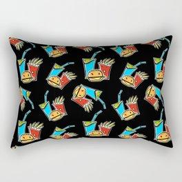 Fun Fast Food (seamless pattern in black) Rectangular Pillow