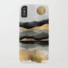Golden Spring Moon iPhone Case