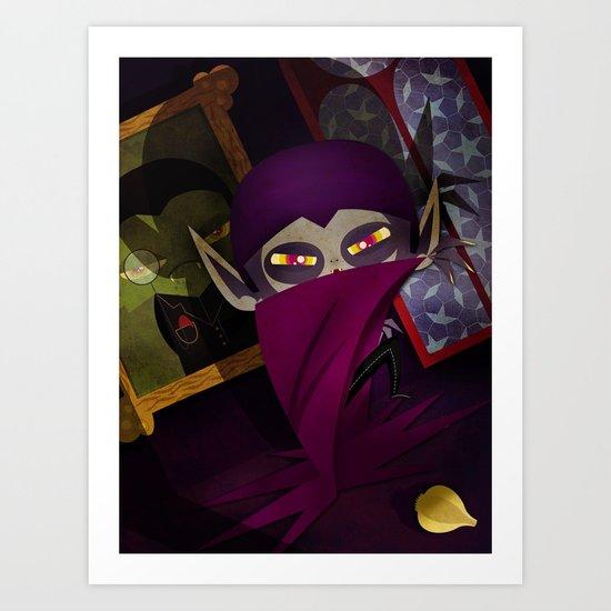 the vampire Art Print