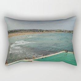 Bondi Beach Icebergs Old Rectangular Pillow