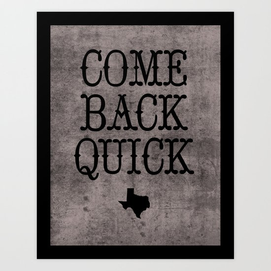 Dear Texas Art Print