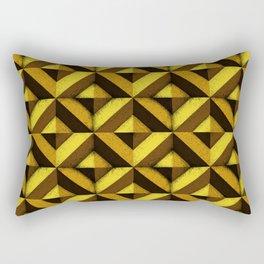 Concrete wall - Sun yellow Rectangular Pillow