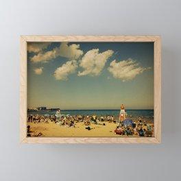 Evanston Beach #2 Framed Mini Art Print