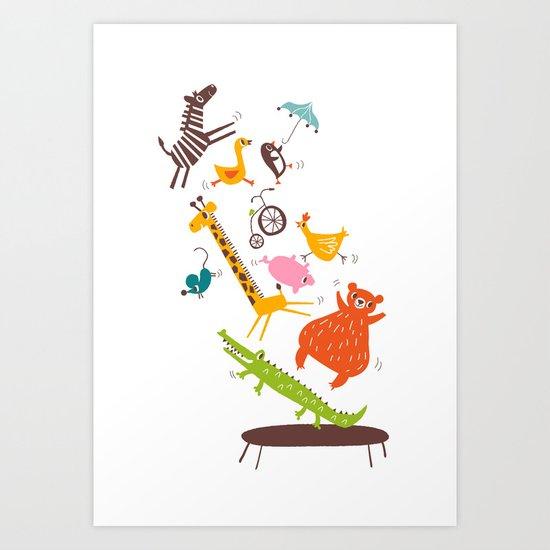 trampolinists Art Print