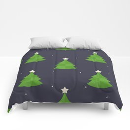 Green Christmas Tree Pattern Comforters