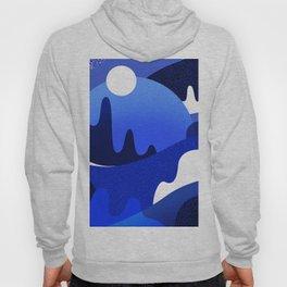 Terrazzo landscape blue night Hoody