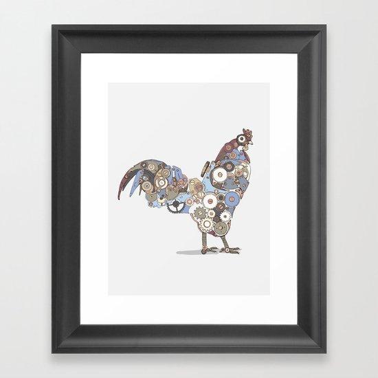 Chicken Alarm Framed Art Print