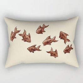 Coffee Bean Sharks Rectangular Pillow