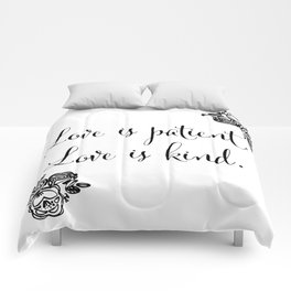 Love is Patient, Love is Kind Comforters