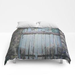Old Blue Door II Comforters