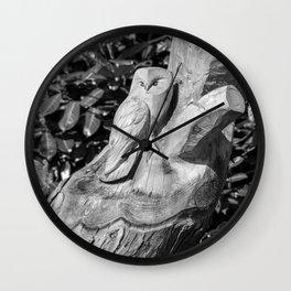 Tree Owl  Wall Clock