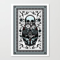 doll Canvas Prints featuring Russian Doll by koivo