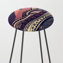 Psychedelic mountains (colour option) Counter Stool
