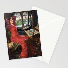 "John William Waterhouse - ""I am half sick of shadows"" said the Lady of Shalott Stationery Cards"