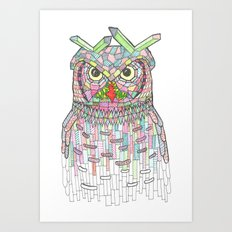 Owl Know. Art Print