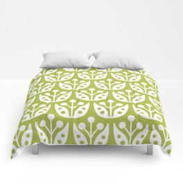 Mid Century Flower Pattern 5 Comforters