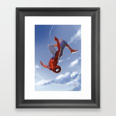 Web Head Framed Art Print