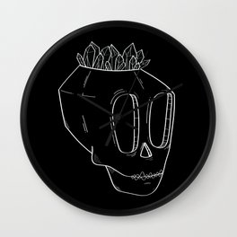 Diamond Skull Wall Clock