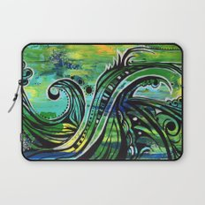 green and blue Laptop Sleeve