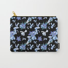 Orchid chic decor (blue & black palette) Carry-All Pouch