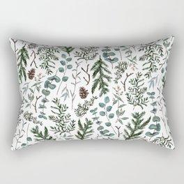 Pine and Eucalyptus Greenery Rectangular Pillow