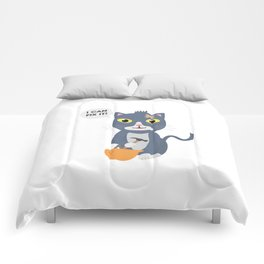 Construction Worker Cat Comforters