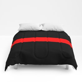 Thin Red Flag Comforters