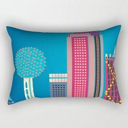 Dallas, Texas - Skyline Illustration by Loose Petals Rectangular Pillow