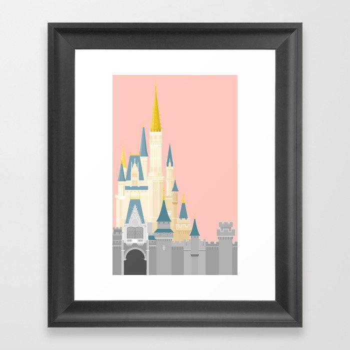 Cinderella Castle  Gerahmter Kunstdruck