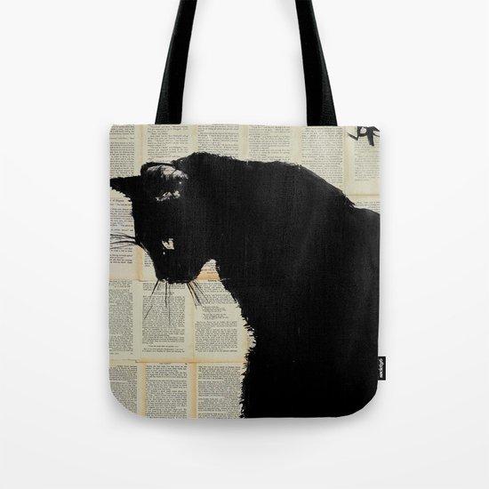 cat black Tote Bag