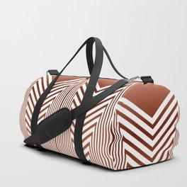 Art Deco Geometric Arrowhead Dusty Peach Design Duffle Bag