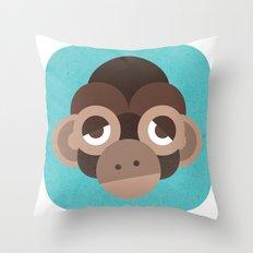 Cheeky Monkey Throw Pillow