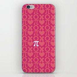 Hugs, Kisses, Love, and Pi - Pink  iPhone Skin