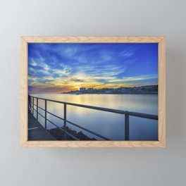 Smooth river. Framed Mini Art Print