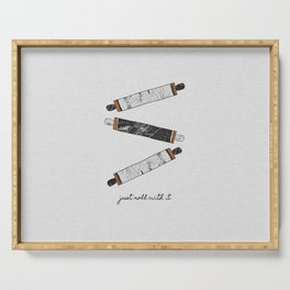 Just Roll With It, Kitchen Prints Serving Tray