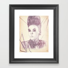 Shattering The Mold - Janelle Monae Framed Art Print