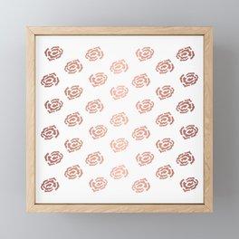 Rose Gold Roses Framed Mini Art Print