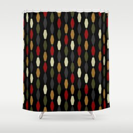 Colima - Black Shower Curtain