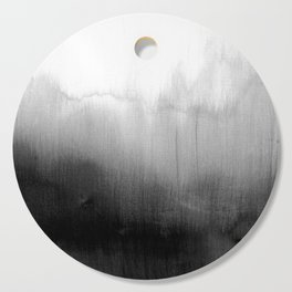 Modern Black and White Watercolor Gradient Cutting Board