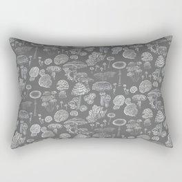 Mycology Grey Rectangular Pillow