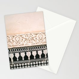 Graphic tile pattern | Moroccan Arabic tiles in earth tones. | Pastel film marrakech photography Stationery Cards
