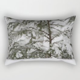Winter in Maine Rectangular Pillow