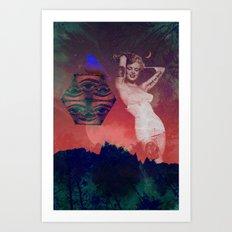 False Colored Eyes Art Print