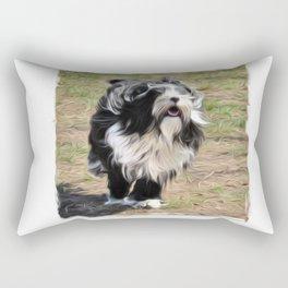 Tibetan Terrier Art Rectangular Pillow