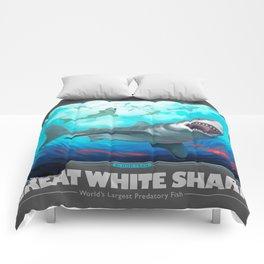 Great White Shark, World's Largest Predatory Fish Comforters