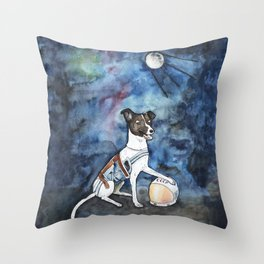 Our hero, Laika Throw Pillow