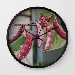 Purple Kidney Beans Wall Clock