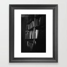 Book Case Framed Art Print
